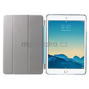 Classic tří polohové pouzdro na iPad Mini 3, ipad Mini 2 a na iPad Mini - modré - 6