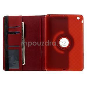 Circu otočné pouzdro na Apple iPad Mini 3, iPad Mini 2 a ipad Mini - červené - 6