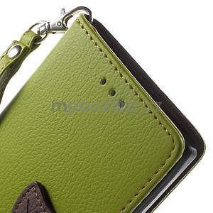 Supreme peněženkové pouzdro na Lenovo P70 - zelené/hnědé - 6