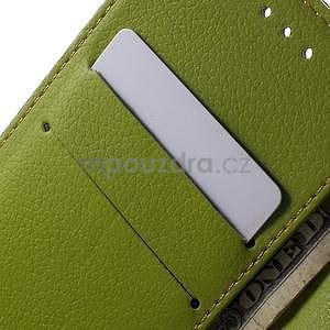 Supreme peněženkové pouzdro na Lenovo P70 - hnědé/zelené - 6
