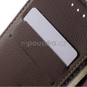 Supreme peněženkové pouzdro na Lenovo P70 - černé/hnědé - 6