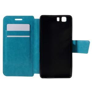 Peněženkové PU kožené pouzdro na mobil Doogee X5 - modré - 6