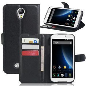 Peněženkové pouzdro na mobil Doogee X6 - černé - 6