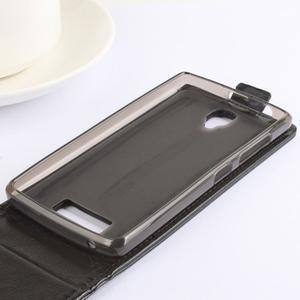 Flipové pouzdro na mobil Lenovo A2010 - hnědé - 6