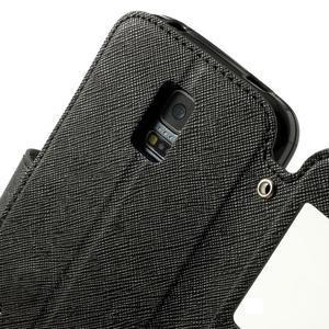 Pěněženkové pouzdro s okýnkem pro Samsung Galaxy S5 mini -  černé - 6