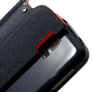 Pěněženkové pouzdro s okýnkem pro Samsung Galaxy S5 mini -  oranžové - 6