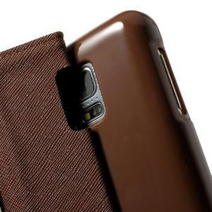 Diary PU kožené pouzdro na Samsung Galaxy S5 mini - černé/hnědé - 6