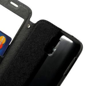 Pěněženkové pouzdro s okýnkem pro Samsung Galaxy S5 mini -  tmavěmodré - 6