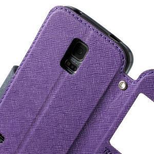 Pěněženkové pouzdro s okýnkem pro Samsung Galaxy S5 mini -  fialové - 6