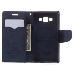 Mr. Fancy koženkové pouzdro na Samsung Galaxy A5 - červené - 6
