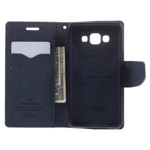 Mr. Fancy koženkové pouzdro na Samsung Galaxy A5 - rose - 6