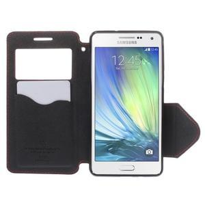 Stylové pouzdro s okýnkem na Samsung Galaxy A5 - červené - 6