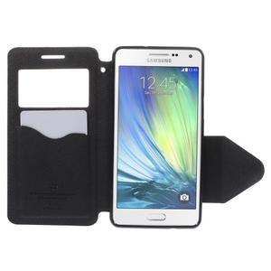 Stylové pouzdro s okýnkem na Samsung Galaxy A5 - tmavěmodré - 6