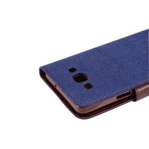 Jeans peněženkové pouzdro na Samsung Galaxy note 3 - tmavěmodré - 6