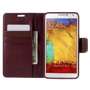 Setsnow PU kožené pouzdro na Samsung Galaxy Note 3 - vínové - 6