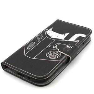 Peněženkové pouzdro na mobil Samsung Galaxy S3 - kočička s knihou - 6