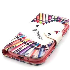 Peněženkové pouzdro na mobil Samsung Galaxy S3 - srdce z voskovek - 6
