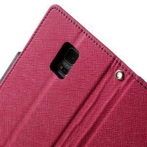 Diary PU kožené pouzdro na Samsung Galaxy S5 mini - rose - 6