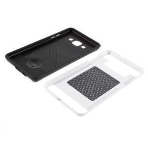 Hybridní gelové/plastové pouzdro na Samsung Galaxy A5 - bílé - 6