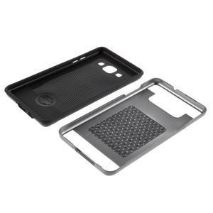 Hybridní gelové/plastové pouzdro na Samsung Galaxy A5 - šedé - 6
