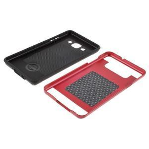 Hybridní gelové/plastové pouzdro na Samsung Galaxy A5 - červené - 6