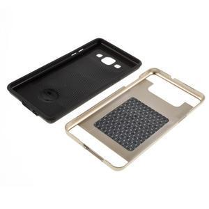 Hybridní gelové/plastové pouzdro na Samsung Galaxy A5 - zlaté - 6