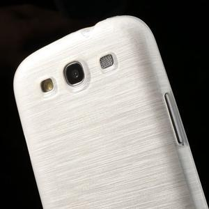 Brush gelový kryt na Samsung Galaxy S III / Galaxy S3 - bílý - 6