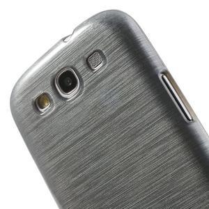 Brush gelový kryt na Samsung Galaxy S III / Galaxy S3 - šedý - 6