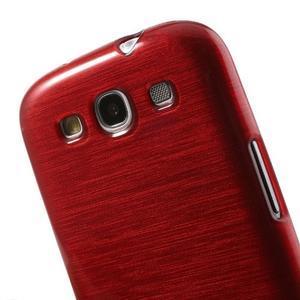 Brush gelový kryt na Samsung Galaxy S III / Galaxy S3 - červený - 6