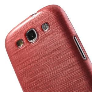 Brush gelový kryt na Samsung Galaxy S III / Galaxy S3 - růžový - 6