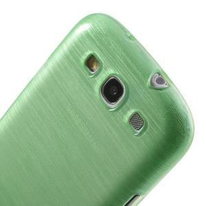 Brush gelový kryt na Samsung Galaxy S III / Galaxy S3 - zelený - 6
