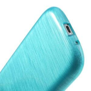 Brush gelový kryt na Samsung Galaxy S III / Galaxy S3 - modrý - 6