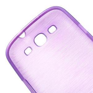 Brush gelový kryt na Samsung Galaxy S III / Galaxy S3 - fialový - 6