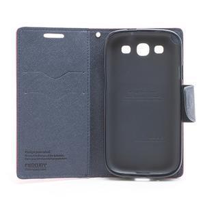 Mr. Fancy koženkové pouzdro na Samsung Galaxy S3 - rose - 6