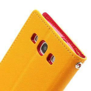 Mr. Fancy koženkové pouzdro na Samsung Galaxy S3 - žluté - 6