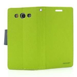 Mr. Fancy koženkové pouzdro na Samsung Galaxy S3 - zelené - 6