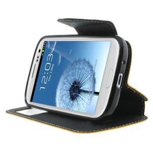 Peněženkové pouzdro s okýnkem pro Samsung Galaxy S3 / S III - žluté - 6