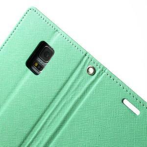 Diary PU kožené pouzdro na Samsung Galaxy S5 mini - azurové - 6