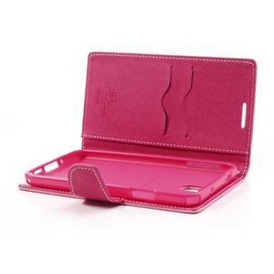 Goosp PU kožené pouzdro na Samsung Galaxy Note 3 - růžové - 6