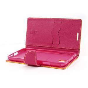 Goosp PU kožené pouzdro na Samsung Galaxy Note 3 - žluté - 6