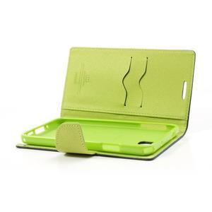 Goosp PU kožené pouzdro na Samsung Galaxy Note 3 - tmavěmodré - 6