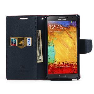 Goosp PU kožené pouzdro na Samsung Galaxy Note 3 - červené - 6