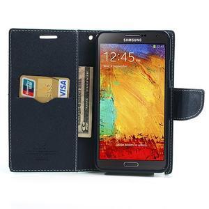 Goosp PU kožené pouzdro na Samsung Galaxy Note 3 - azurové - 6