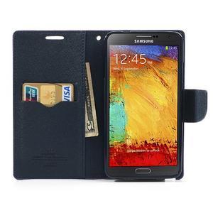 Goosp PU kožené pouzdro na Samsung Galaxy Note 3 - fialové - 6