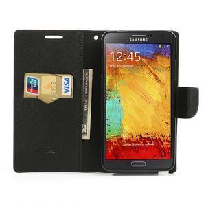 Goosp PU kožené pouzdro na Samsung Galaxy Note 3 - hnědé - 6