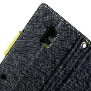 Diary PU kožené pouzdro na Samsung Galaxy S5 mini - tmavěmodré - 6