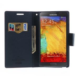 Goosp PU kožené pouzdro na Samsung Galaxy Note 3 - rose - 6