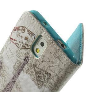 Peněženkové pouzdro na mobil Samsung Galaxy Note 3 - Eiffelova věž - 6