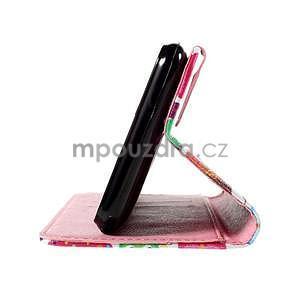 Koženkové pouzdro na mobil Sony Xperia E4 - sovičky - 6
