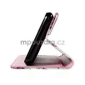 Koženkové pouzdro na mobil Sony Xperia E4 - růže - 6